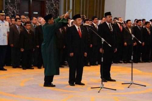 Sumpah Jabatan Ketua dan Wakil Ketua BPK
